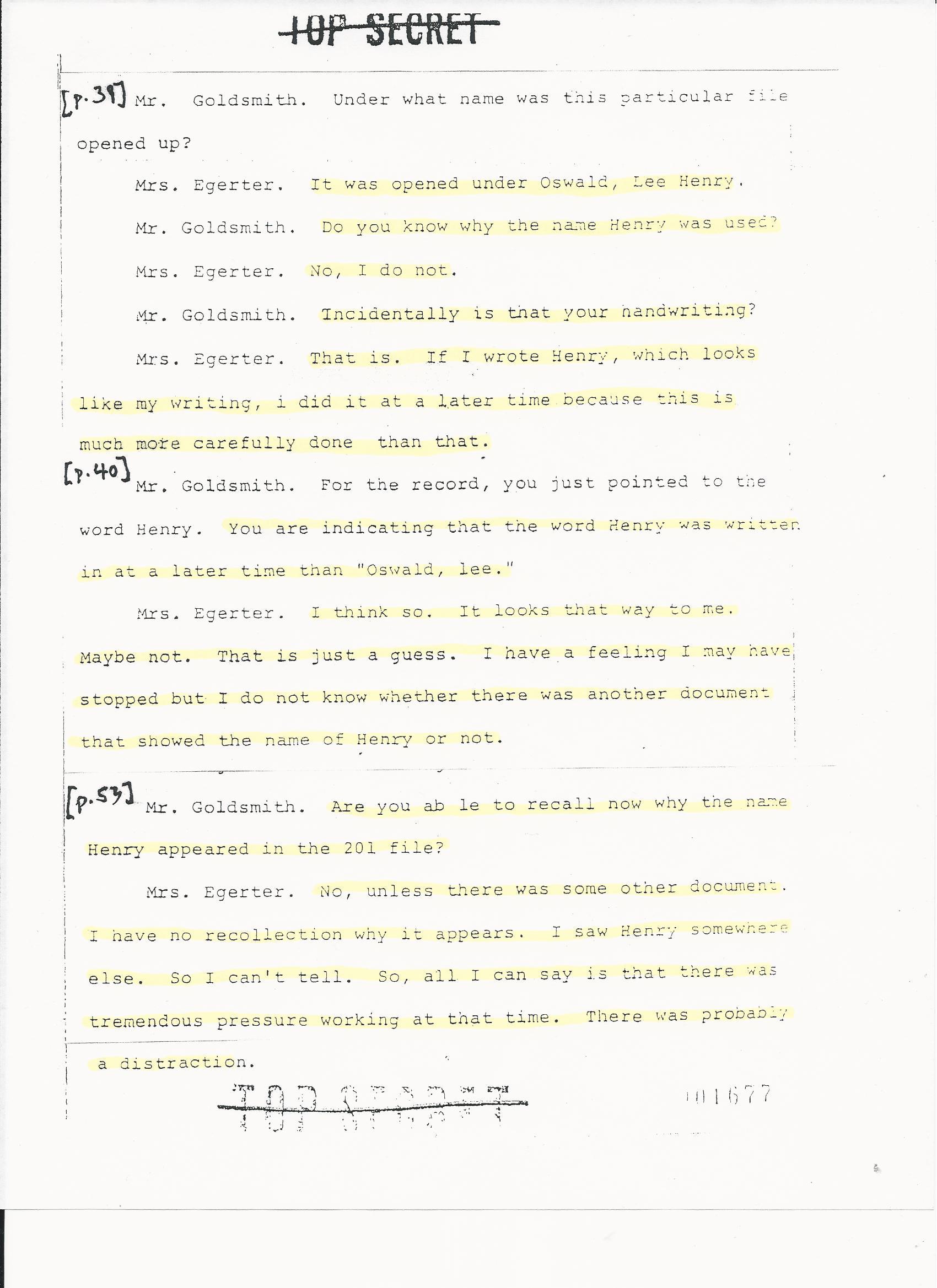 51778EGERTERHSCASECCLASSTESTIMONY Egerter HSCA Testimony