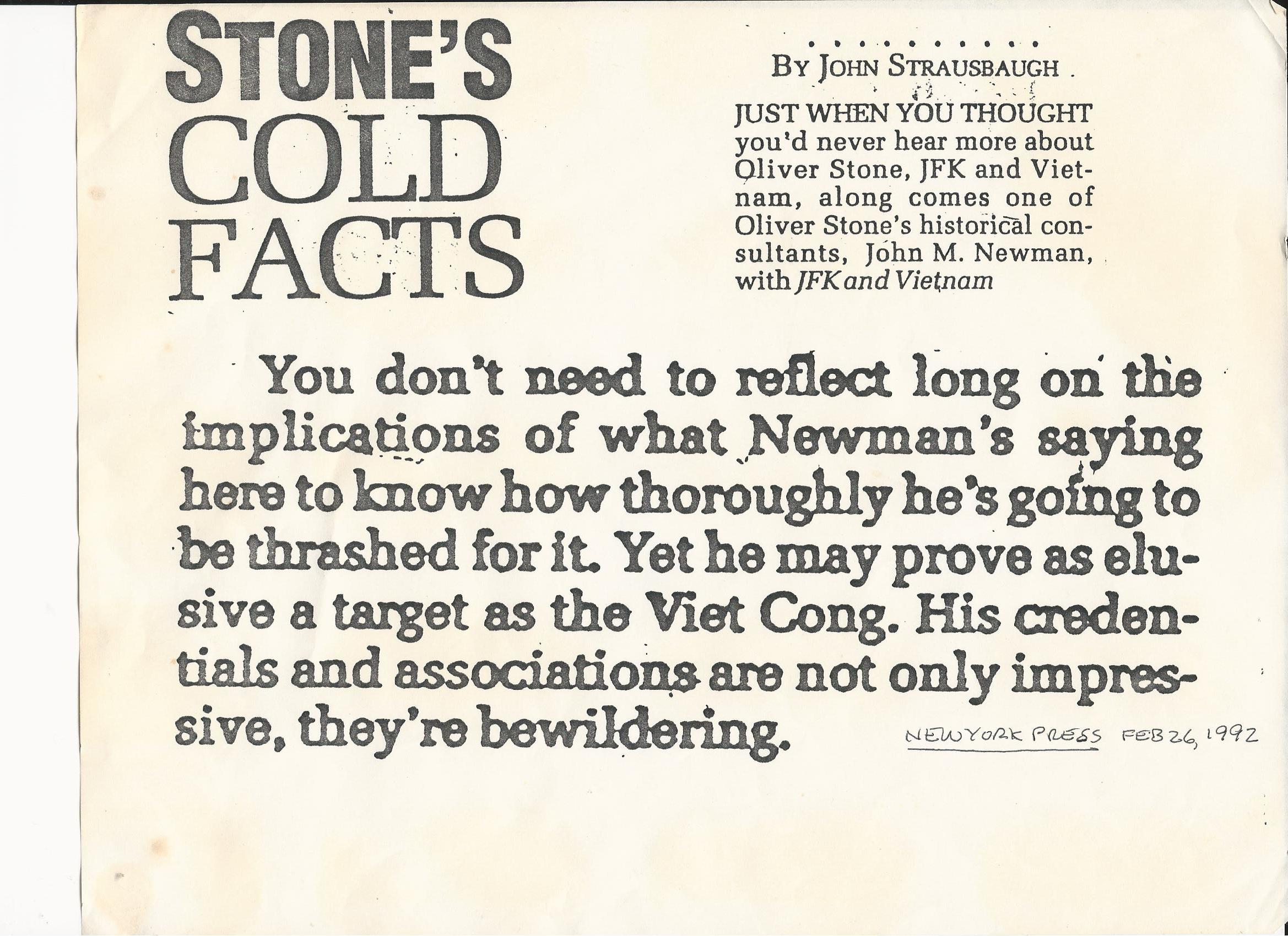 NYPRESSSTONEANDNEWMAN Stone's Cold Facts